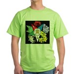 Eastern Star Floral Emblem - Green T-Shirt