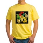 Eastern Star Floral Emblem - Yellow T-Shirt