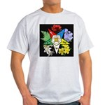 Eastern Star Floral Emblem - Light T-Shirt