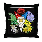 Eastern Star Floral Emblem - Throw Pillow