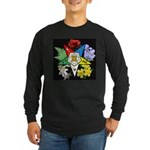 Eastern Star Floral Emblem - Long Sleeve Dark T-Sh