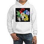 Eastern Star Floral Emblem - Hooded Sweatshirt