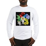Eastern Star Floral Emblem - Long Sleeve T-Shirt