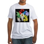 Eastern Star Floral Emblem - Fitted T-Shirt