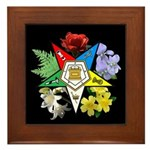 Eastern Star Floral Emblem - Framed Tile