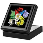 Eastern Star Floral Emblem - Keepsake Box