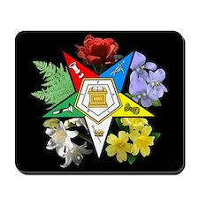 Eastern Star Floral Emblem - Mousepad