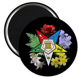Eastern Star Floral Emblem - 2.25&quot; Magnet (100 pac