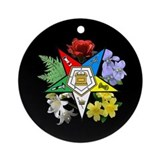 Eastern Star Floral Emblem - Ornament (Round)