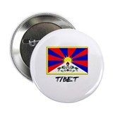 "Tibet Flag 2.25"" Button"