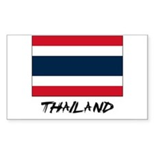 Thailand Flag Rectangle Decal