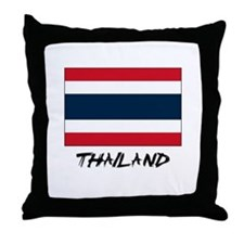 Thailand Flag Throw Pillow