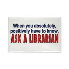 ASK A LIBRARIAN Rectangle Magnet