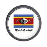 Swaziland Flag Wall Clock
