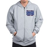 CANCER SURVIVOR (BLUE) Zip Hoodie