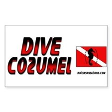 Dive Cozumel (red) Rectangle Decal