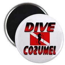 Dive Cozumel (red) Magnet