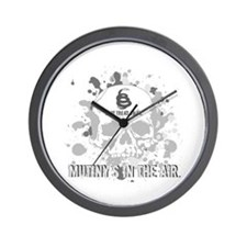 Mutiny's In The Air (Gray) Wall Clock