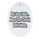 """Closing Bell Rings"" Oval Ornament"