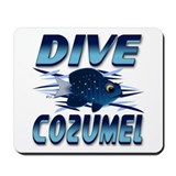 Dive Cozumel (blue) Mousepad