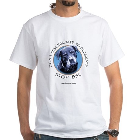 Rottie (circle) White T-Shirt