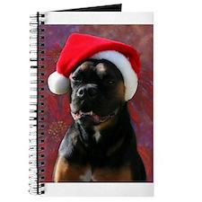 Boxer Rotty Mix Santa Journal