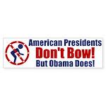 No Bow Bumper Sticker