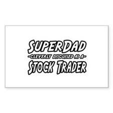 """Super Dad..Stock Trader"" Rectangle Decal"