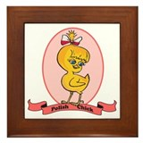 Polish Chick Framed Tile