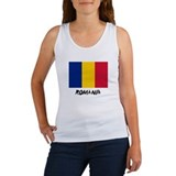 Romania Flag Women's Tank Top