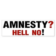 Amnesty? Hell No! Bumper Bumper Sticker