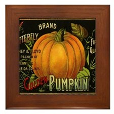 Vintage Fruit Crate Label Framed Tile