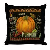 Vintage Vegetable Label Throw Pillow