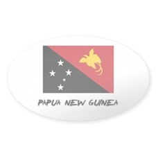 Papua New Guinea Flag Oval Decal