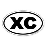 Cross Country XC Euro Oval Decal