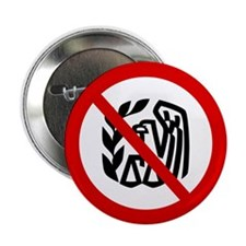 "No IRS 2.25"" Button (10 pack)"