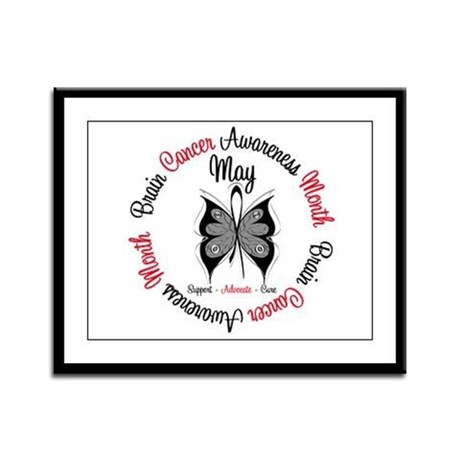 BrainCancerAwarenessMonth Framed Panel Print