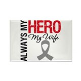 Brain Cancer Hero Wife Rectangle Magnet (10 pack)