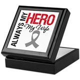 Brain Cancer Hero Wife Keepsake Box