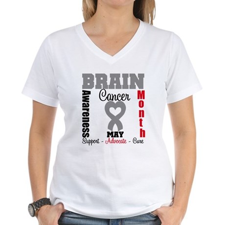 Brain Cancer Month Women's V-Neck T-Shirt