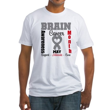 Brain Cancer Month Fitted T-Shirt