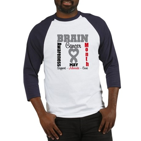 Brain Cancer Month Baseball Jersey