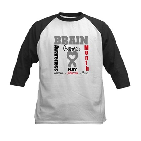 Brain Cancer Month Kids Baseball Jersey