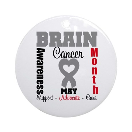 Brain Cancer Month Ornament (Round)