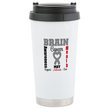 Brain Cancer Month Ceramic Travel Mug