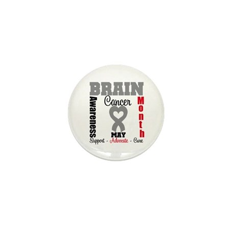 Brain Cancer Month Mini Button