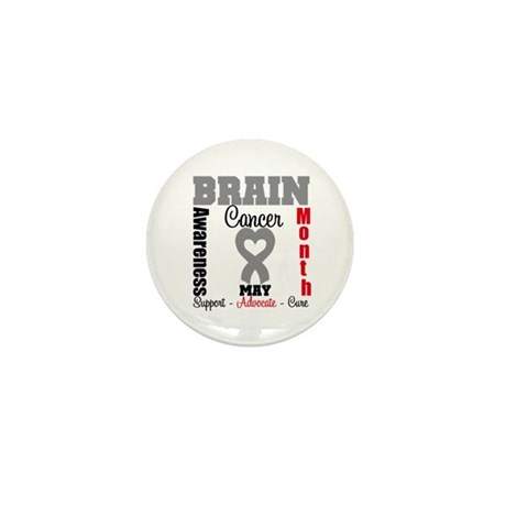 Brain Cancer Month Mini Button (10 pack)