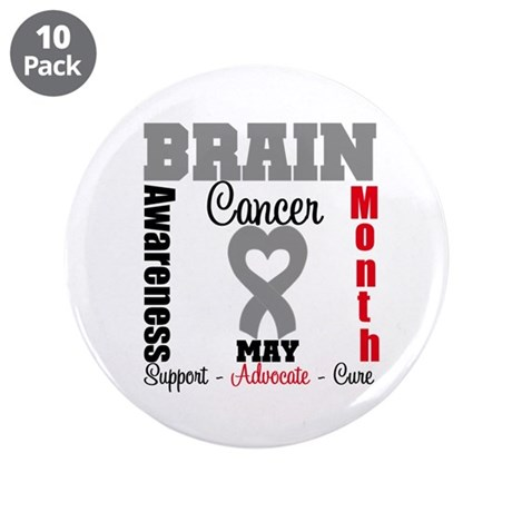 "Brain Cancer Month 3.5"" Button (10 pack)"