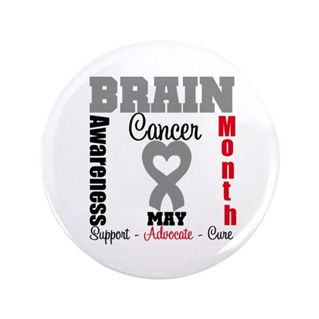 "Brain Cancer Month 3.5"" Button (100 pack)"