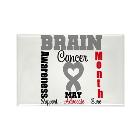 Brain Cancer Month Rectangle Magnet (10 pack)